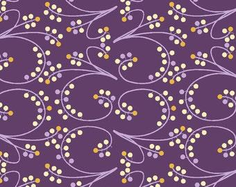 Winter Holiday Berry Fabric by Lonni Rossi - Purple - 1/2 Yard