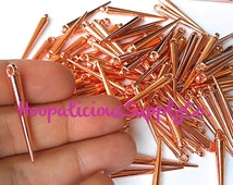 34mm Medium ROSE GOLD Spike Beads with Top Loop. 25pc per order. Other Colors & Quantities Available. Fast Shipping w/Tracking for US Buyer.
