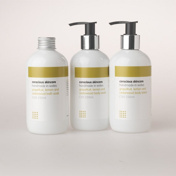 Grapefruit, Lemon and Cedarwood Body Lotion. 100% Chemical Free. 250ml size. Organic Skincare - Body Lotion