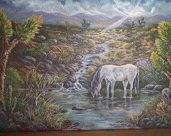Sweet Water, Original Painting 18 x 24, free shipping