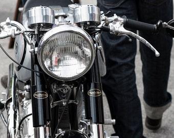 Vintage Norton Motorcycle at Rally