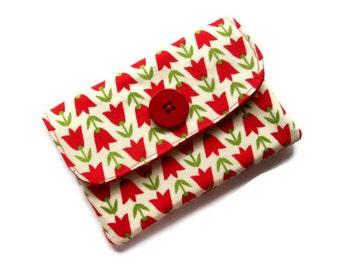 Fabric Wallet /Purse- 2 pockets - Velcro closure- phone,cards, money- UK Seller