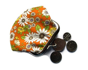 Framed Coin Purse - Change Purse - Small Coin Wallet - Framed Fabric Coin Purse