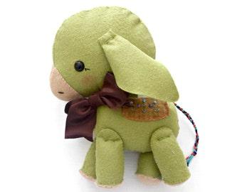 Stuffed Animal - Felt Doll - Donkey - Gingermelon Doll