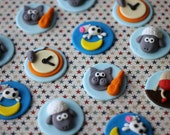 Whimsical Nursery Rhyme Fondant Toppers - Perfect for Cookies, Cupcakes and Other Edible Treats