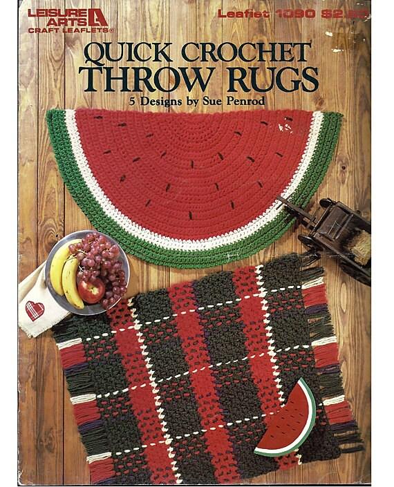 Quick Crochet Throw Rugs Crochet Pattern By Grammysyarngarden