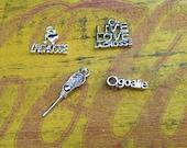 ADD-ON  Silver Lacrosse  Mom Girlfriend Grandmom Necklace Sports Jewelry Team charms