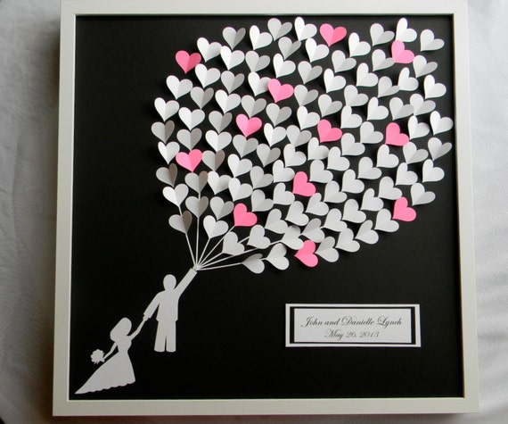 ... bridal shower gift. modern guestbook for the bride and groom great