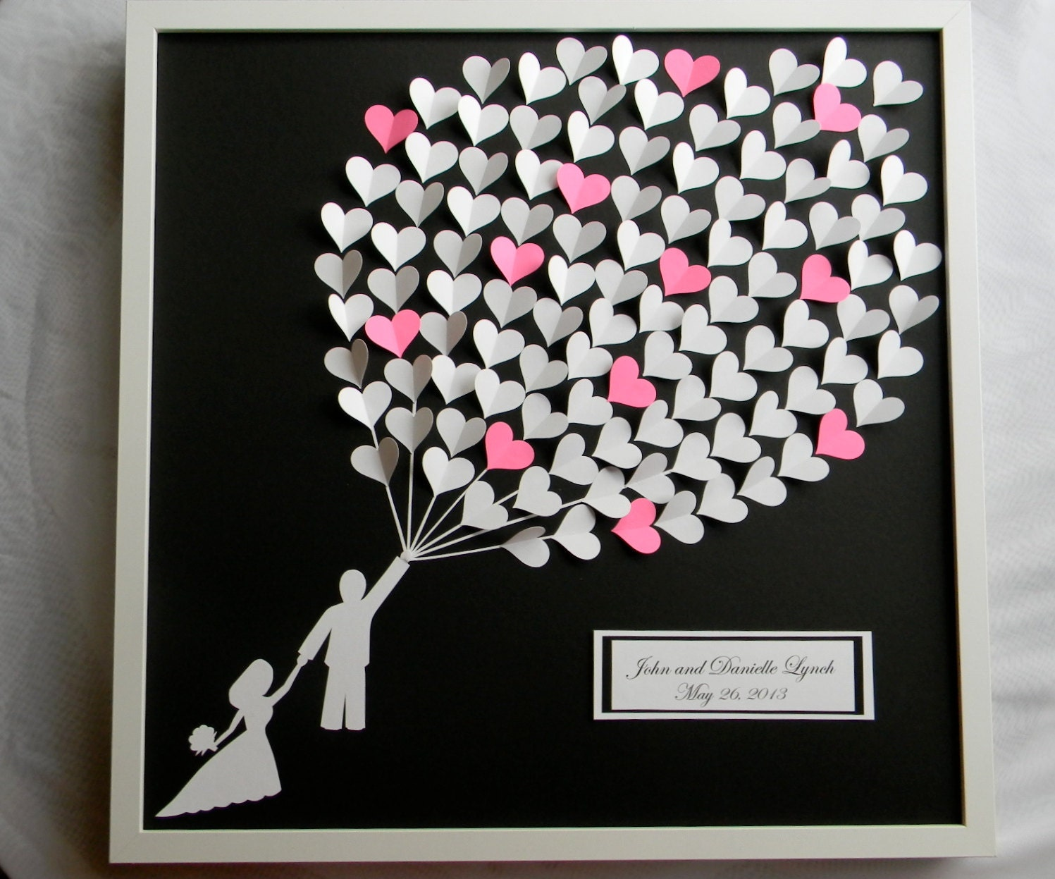 Gift For Guests At Wedding: Wedding Guestbook Alternative Weding Guest Book Modern