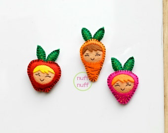 Felt Magnet Set - Fruit and Veggies