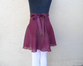 "Adult/Teen Medium 15.5"" Wrap Skirt, Many Colors, Ballet Skirt, Ballet Wrap Skirt, Dance Skirt, Ice Skating Skirt"