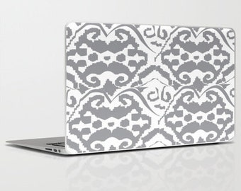 Laptop Skin- Ikat Grey (Can be personalized)