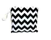 Black and white chevron wet bag swim suit pool beach bathing summer bag waterproof small cloth diaper baby summer