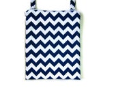 Eco friendly Navy blue chevron Wet bag Kitchen unpaper towel waterproof hanging cloth diaper baby nursery