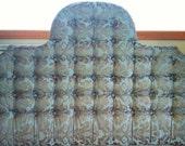 Tufted York Arch Damask Headboard (King)