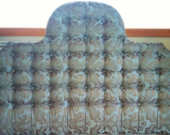Tufted York Arch Damask Headboard (King)