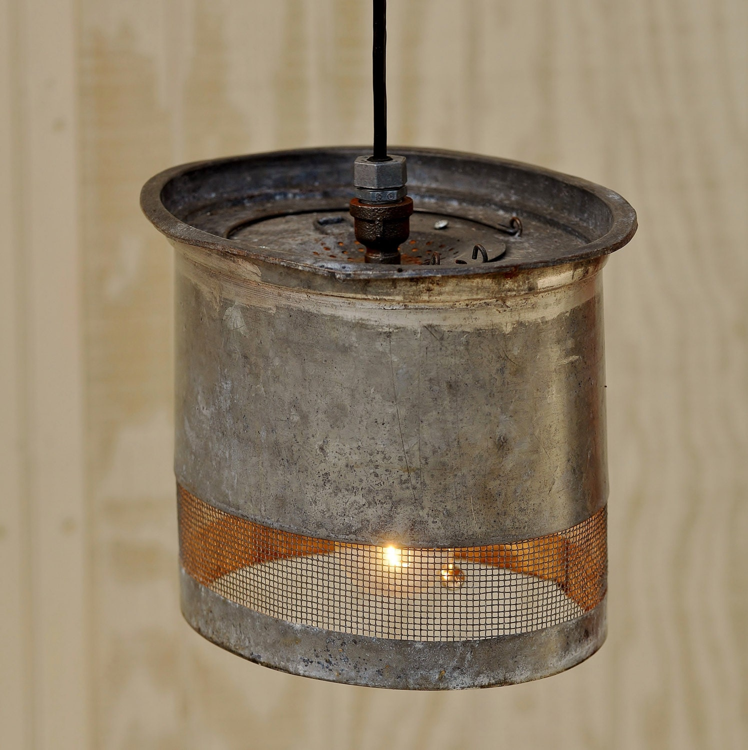 Hanging Light Galvanized: RESERVED For Nancy Vintage Galvanized Oval Minnow Bucket