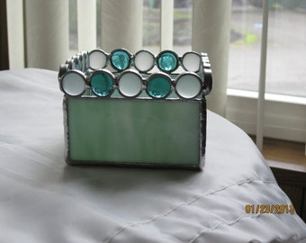 Stained Glass Box Candleholder - Item 16-1005