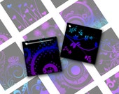 Swirls in Blue and Violet