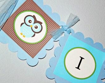 It's a Boy Owl PARTY PACKAGE - Blue