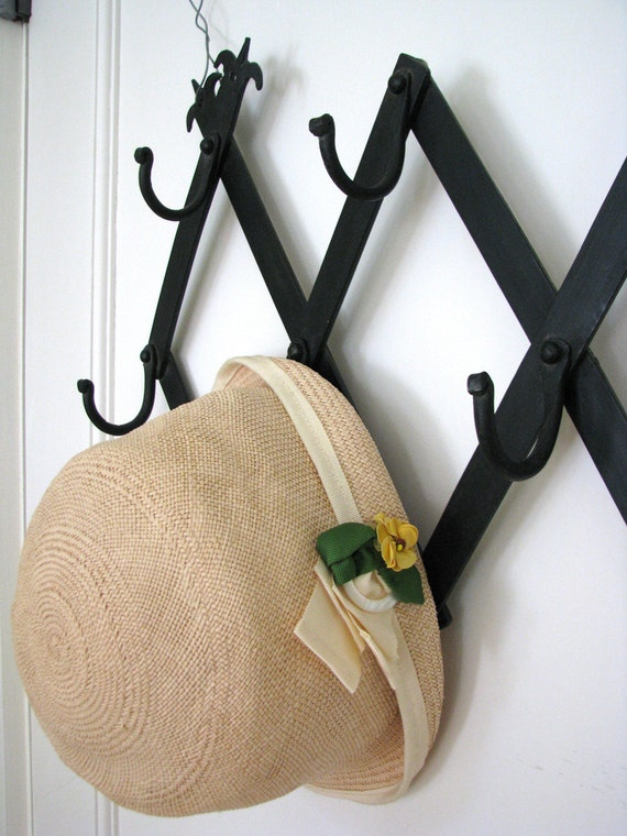 Vintage Wrought Iron Folding Accordion Hat Or By
