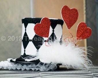 Mini Top Hat - Queen of Hearts
