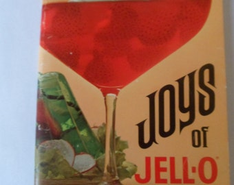 Joys of Jell-o Recipe Booklet from 1960s Gelatin Desserts and Salads Cooking