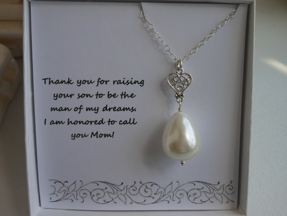 Wedding Gift Ideas For Mother In Law : Mother of the Groom Gift, Mother in Law Gift, Silver Heart Necklace ...