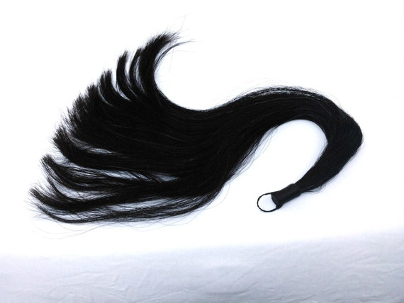 31 Real Horse Hair 1 3 Pound Tail Hair Animal Fur Black
