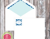 Return Address Label - Blue and White Party Printables - Party printables by WC Designs