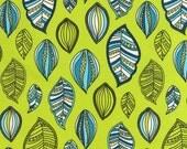 SALE Modern Bliss Lime Leaves - Andie Hanna Spoonflower Robert Kaufman - 1/2 yard cotton quilt fabric 516