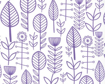 SALE Summersville Spring for Moda Fabrics - Lilac Flowers - 1/2 yard cotton quilt fabric 315