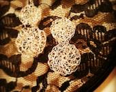 Lila's Sterling Silver wire crochet earrings