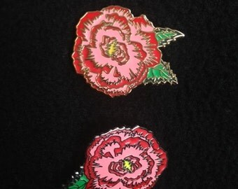 Scarlet Begonias 2 Pin Set
