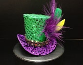 St. Patty's Day Mini Top Hat. Great for Mardi Gras Party, Photo Prop and Much More...