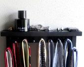Tie rack Tie Bar Tie Holder  with shelf for Men