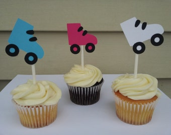12 Skates cupcake toppers great party decoration