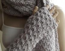 Custom Order - Hidden SPARKLES - Hand Knitted Gloves / Knitted HAND WARMERS / Fingerless Gloves / Knitted HandWarmers / HandWarmers