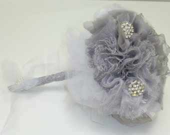 Unique,Handmade wedding Bouquet ,Fabric Bridal Bouquet,- Bridal Bouquet,
