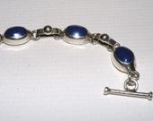 15 grams Sterling Silver and Blue Stone Bracelet