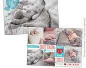 INSTANT DOWNLOAD - Valentine Birth Announcement - Photoshop template - E687