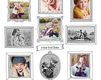 INSTANT DOWNLOAD - Digital Frames set - Magical portraits - E772