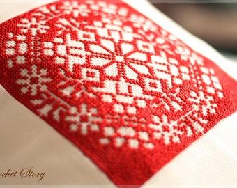 Extraordinary cushion with handmade embroidery