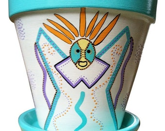 Dia De Los Muertos Day of the Dead Vejigante Flower Pot Planter