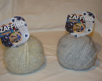 FREE SHIPPING - Adriafil Zaffiro cotton superkid mohair blend Italian made yarn - only 4.99 USD per ball