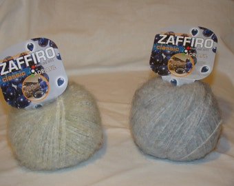 FREE SHIPPING - Adriafil Zaffiro cotton superkid mohair blend Italian made yarn - only 4.99 USD per ball