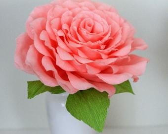 Large paper rose ,large paper flower for wedding,Glamelia bouquet