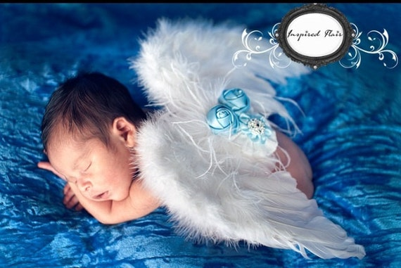 Newborn Baby Angel Wings White Baby Angel Wings By