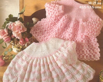 Baby  Angel tops 18ins to 21ins - Marriner 1844 -  PDF of Vintage Knitting Patterns - Instant Download
