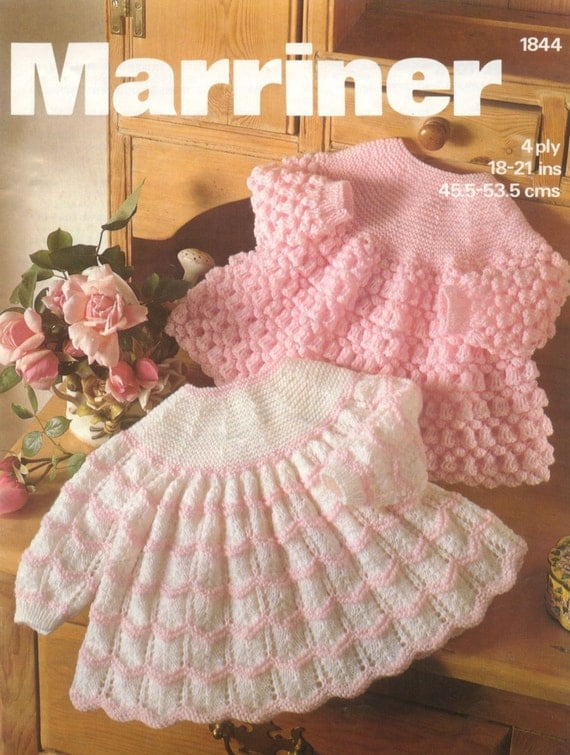 Vintage Knitting Baby Patterns : Vintage PDF Knitting Baby Patterns Marriner 1844 by avintagescot